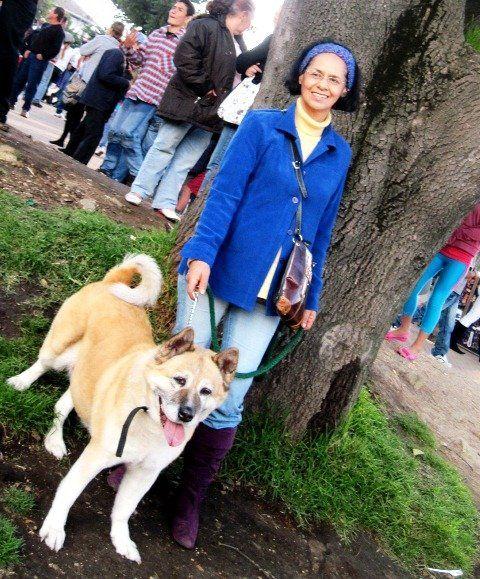 Inashi y Carlota en el Parque de Fontibón