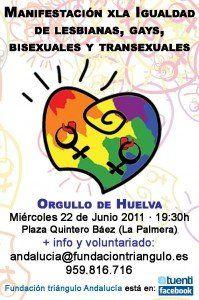 cartel Manifestación orgullo gay de Huelva 2011